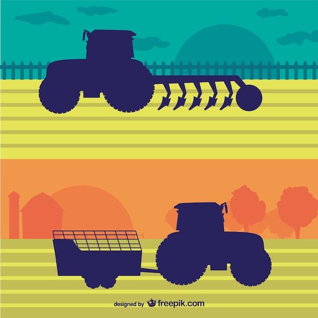 Ilustración vectorial agricultura vector gratuito