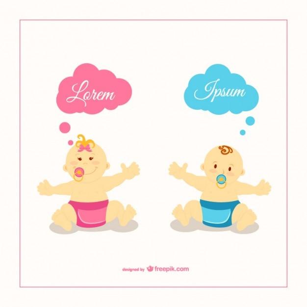 Ilustración vectorial bebés | Descargar Vectores gratis