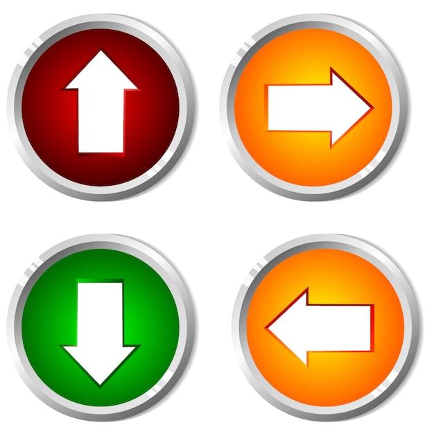 Ilustración vectorial de un botón con el puntero. Vector Premium