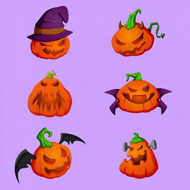 Ilustración vectorial de calabaza halloween Vector Premium