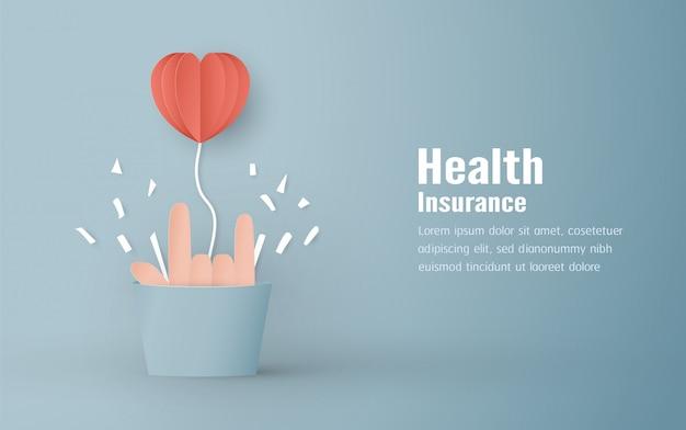 Ilustración vectorial en concepto de seguro de salud. Vector Premium