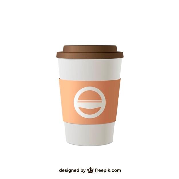 Ilustraci n vectorial de caf para llevar descargar for Cafe para llevar