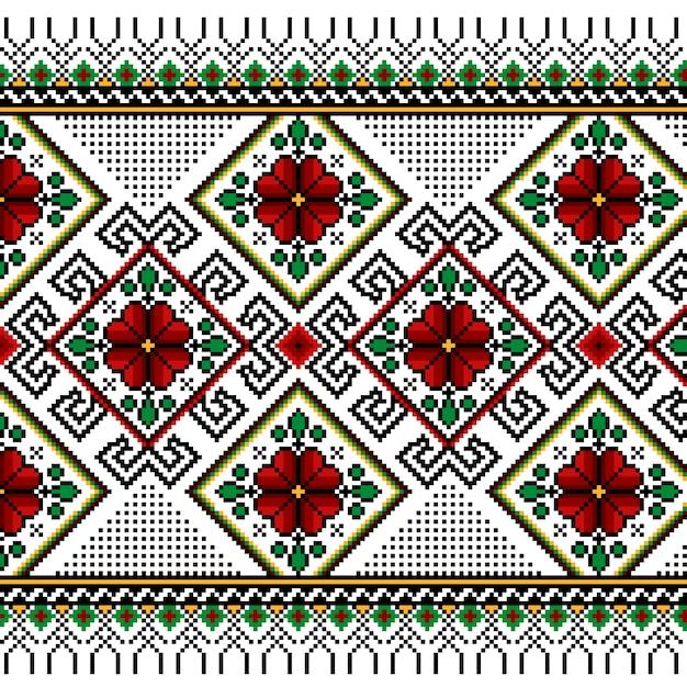 Ilustración vectorial de ucraniano folk patrón transparente ...