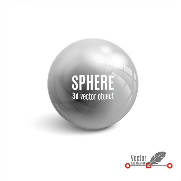 Ilustración vectorial de esfera en 3d vector gratuito