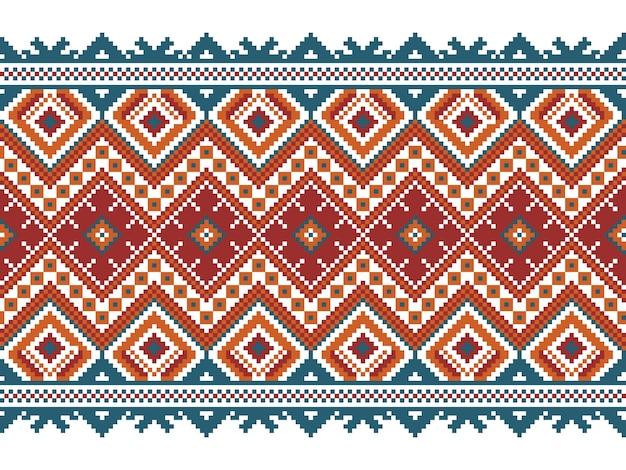 Ilustración vectorial de ucraniano folk patrón transparente ornamento. ornamento étnico. elemento de borde. tradicional ucraniano, arte popular bielorruso patrón de punto de bordado - vyshyvanka vector gratuito