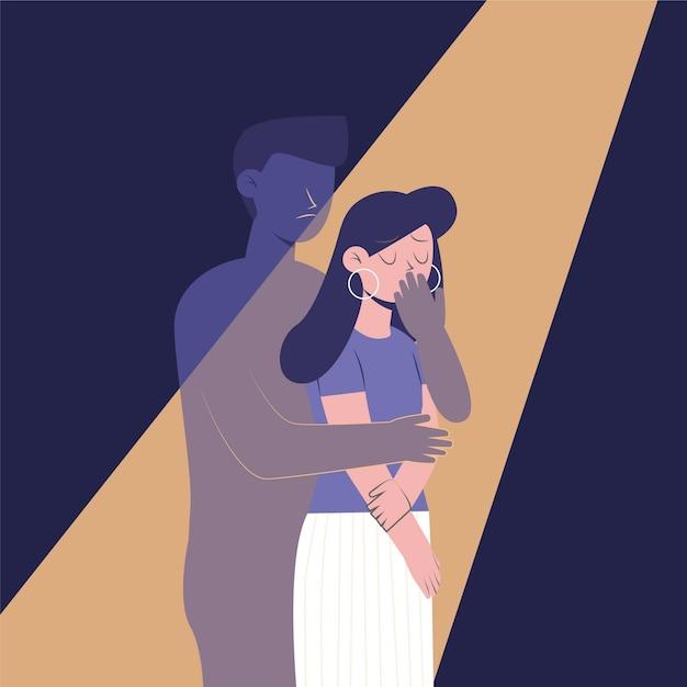 Ilustración de violencia de género vector gratuito