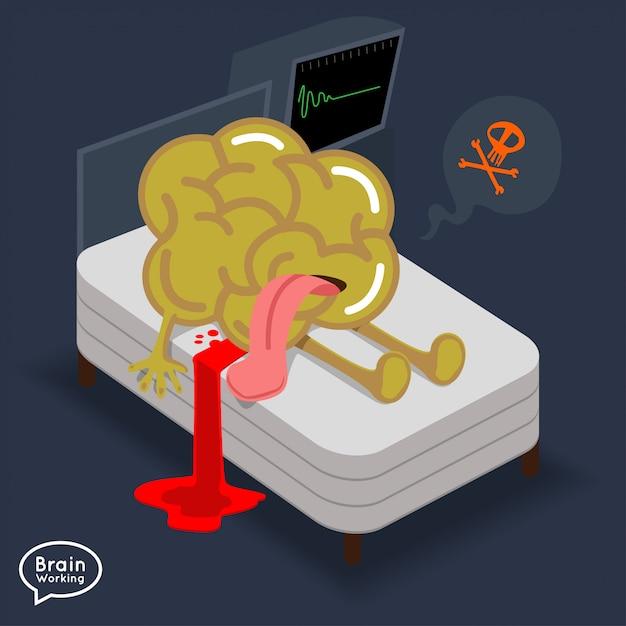 Ilustraciones concepto cerebro fitness Vector Premium