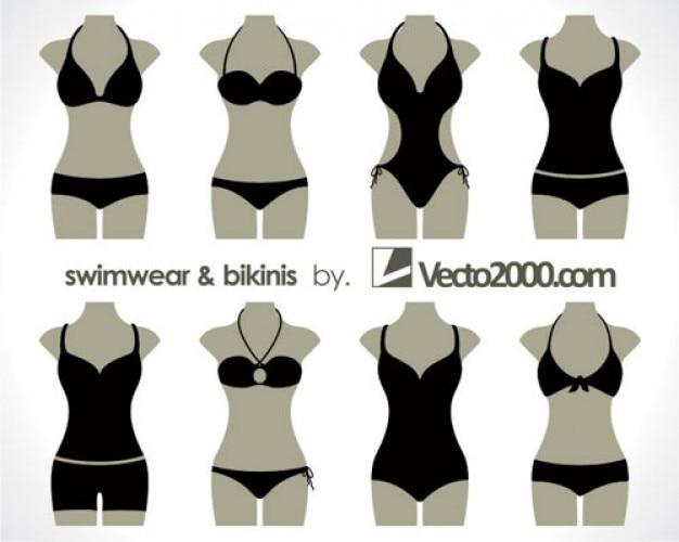 ilustraciones de trajes de baño y bikinis | Descargar Vectores gratis
