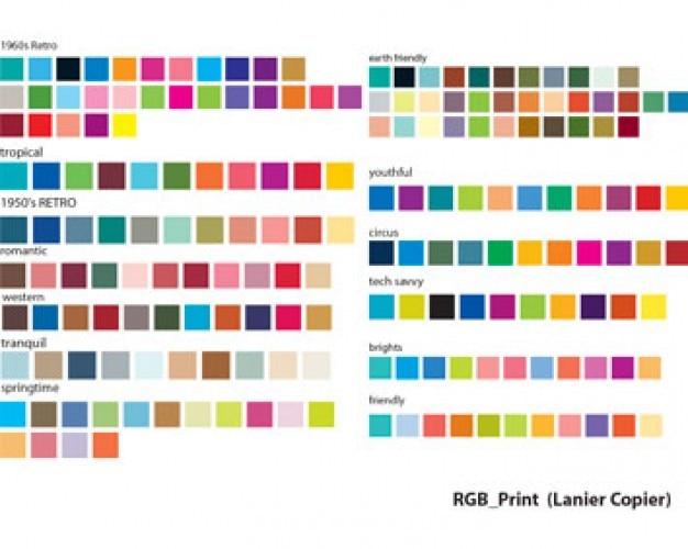 ilustraciones de valores RGB carta de colores Vector Gratis