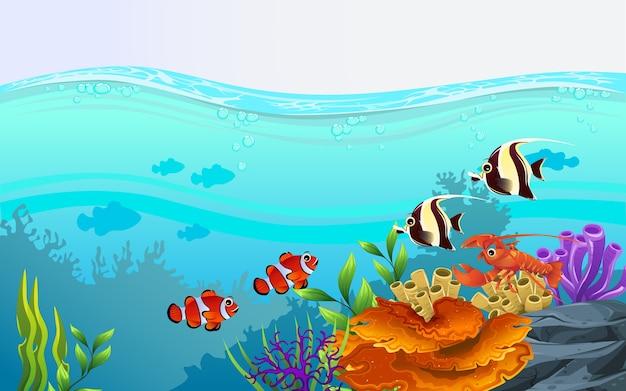 Ilustrando la belleza de la vida marina con una variedad de ...