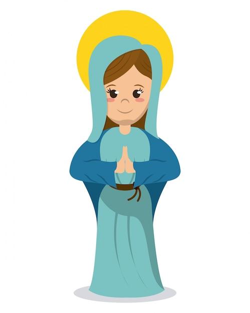 Imagen Católica Religiosa De La Virgen María Descargar Vectores