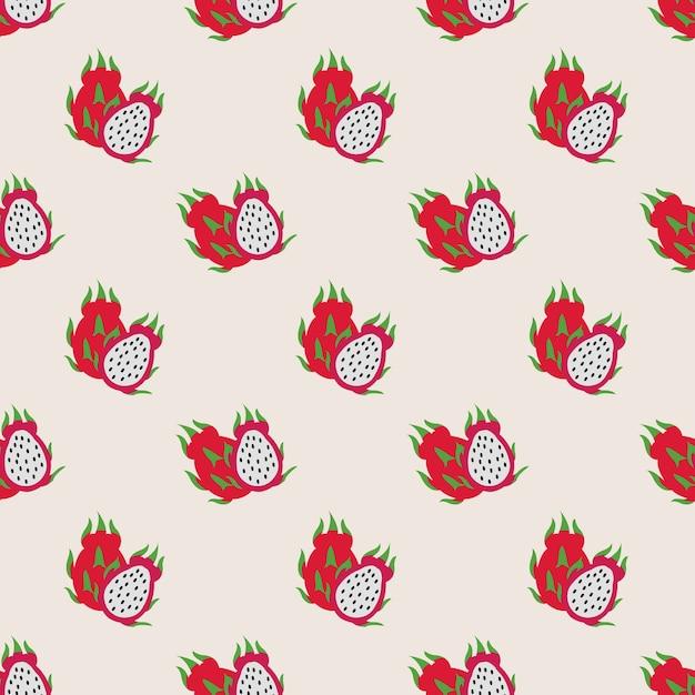 Imagen de fondo transparente colorida fruta tropical pitaya fruta del dragón Vector Premium