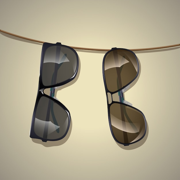 Imagen de gafas de sol Vector Premium