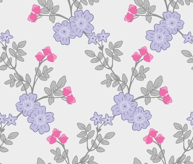 Impresión de patrón de moda de flores | Descargar Vectores Premium