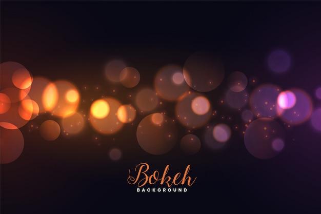 Impresionante bokeh desenfocado luces de fondo vector gratuito