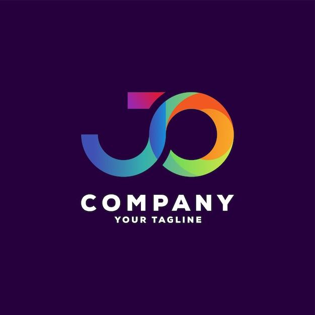 Impresionante diseño de logotipo degradado de letras Vector Premium