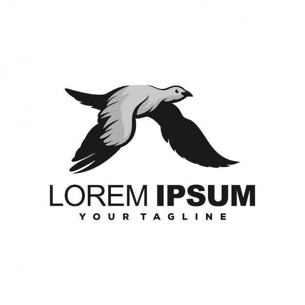 Impresionante diseño de logotipo de fly bird Vector Premium