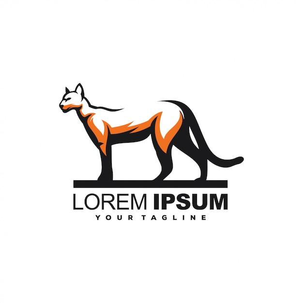 Impresionante diseño de logotipo de pantera animal Vector Premium