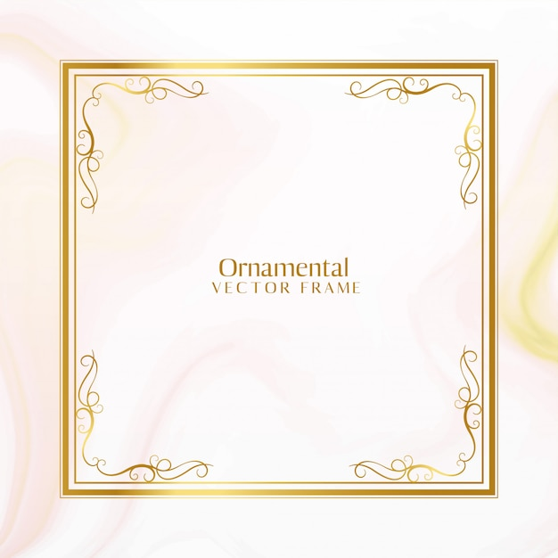 Impresionante diseño de marco dorado ornamental vector gratuito