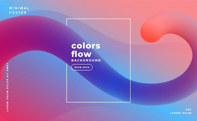 Impresionante fluido abstracto formas de fondo vector gratuito
