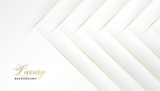 Impresionante fondo blanco con líneas diagonales doradas vector gratuito