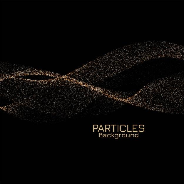 Impresionante fondo de partículas de brillo dorado vector gratuito