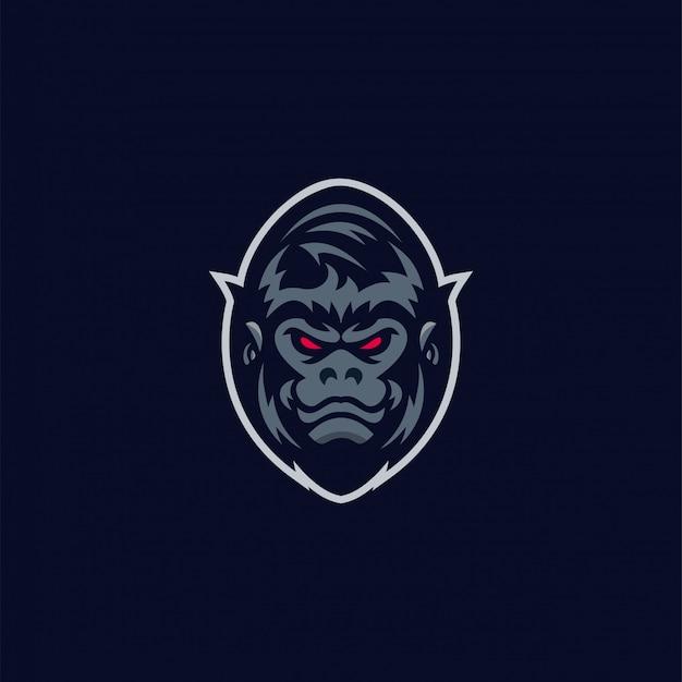 Impresionante logo de gorila Vector Premium