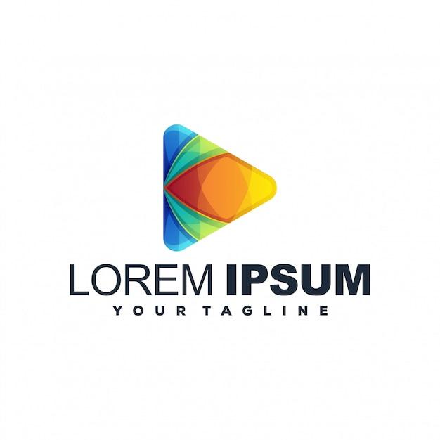 Impresionante logotipo de juego Vector Premium