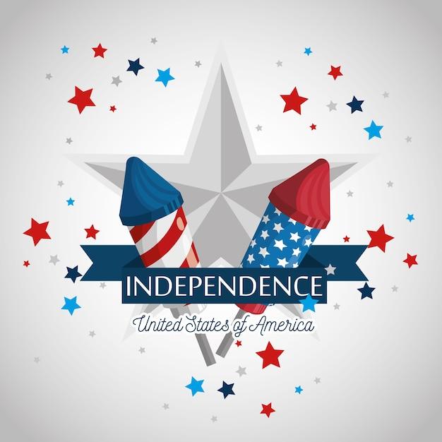 Independencia de estados unidos Vector Premium
