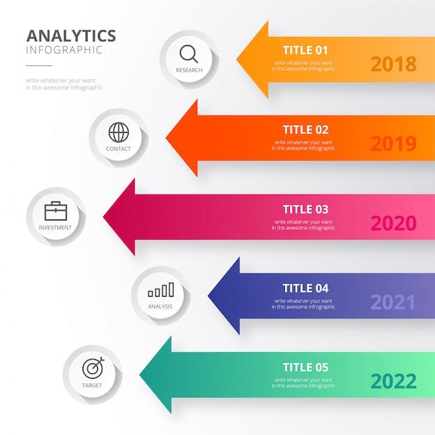 Infografía analítica en estilo moderno vector gratuito