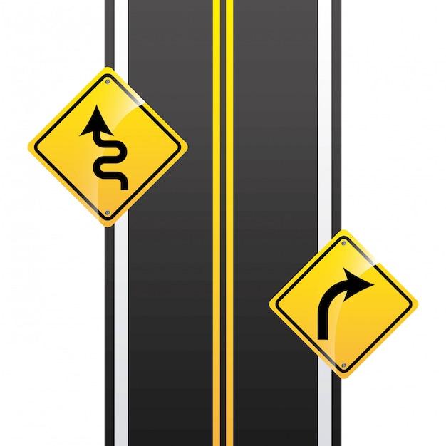 Infografía de carreteras Vector Premium