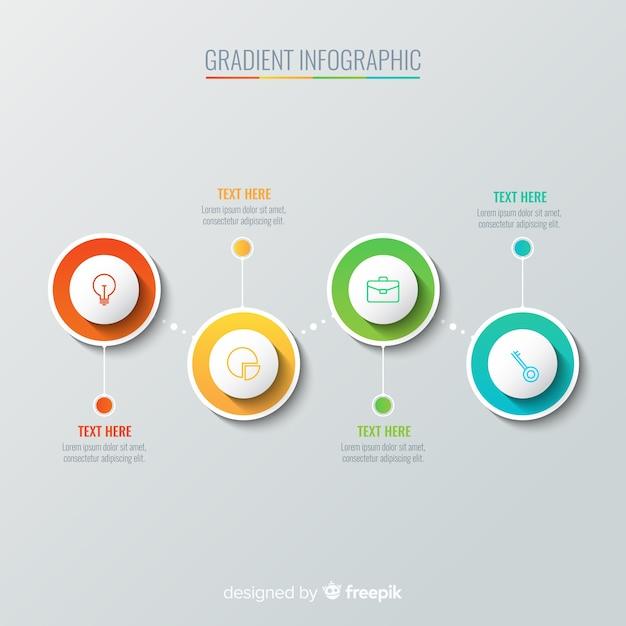 Infografía en color degradado vector gratuito