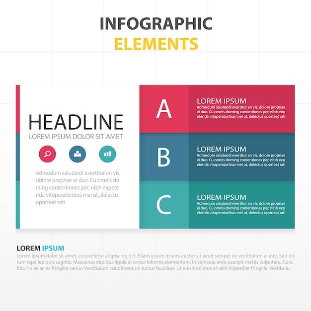 Infografía con 3 colores | Descargar Vectores gratis