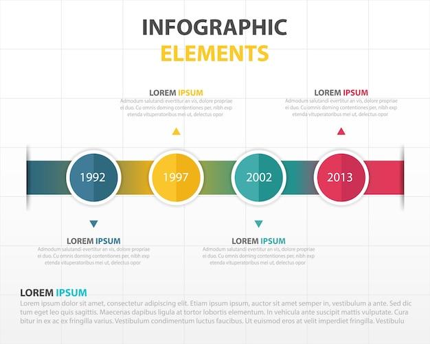 Infografía con una línea del tiempo de colores | Descargar Vectores ...