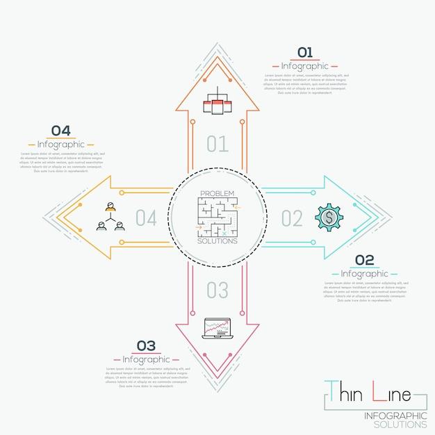Infografía creativa Vector Premium