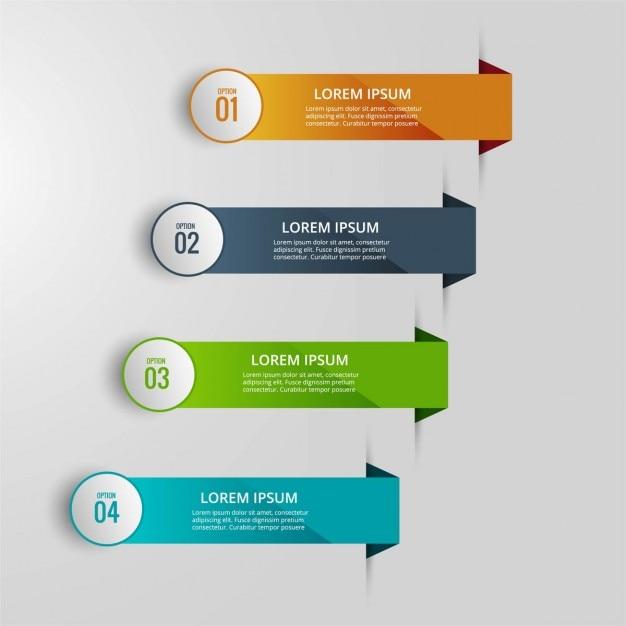 Infografía con cuatro pestañas vector gratuito