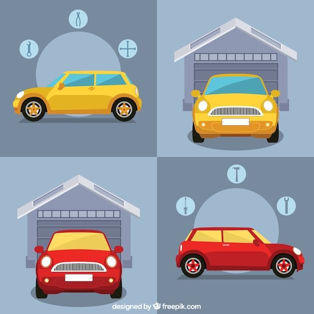 Infograf a de garaje de coches descargar vectores premium for Garaje de coches