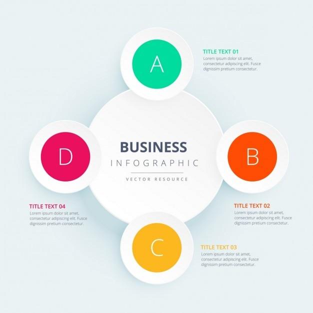 Infograf a de negocios con c rculos coloridos descargar for Costruttore di layout gratuito