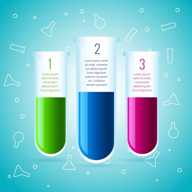 Infografía de química hecha con tubos de laboratorio | Descargar ...