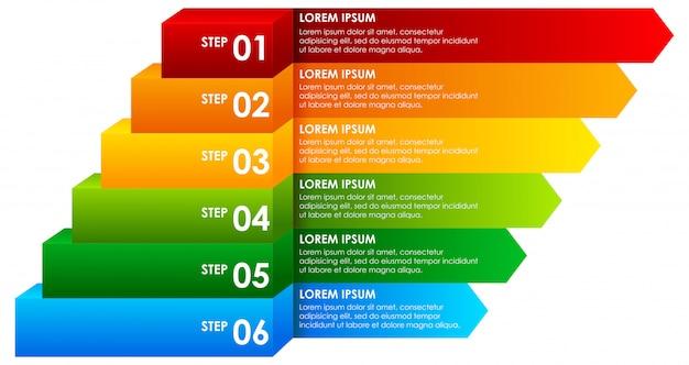 Infografía descendente del arco iris infografía vector gratuito