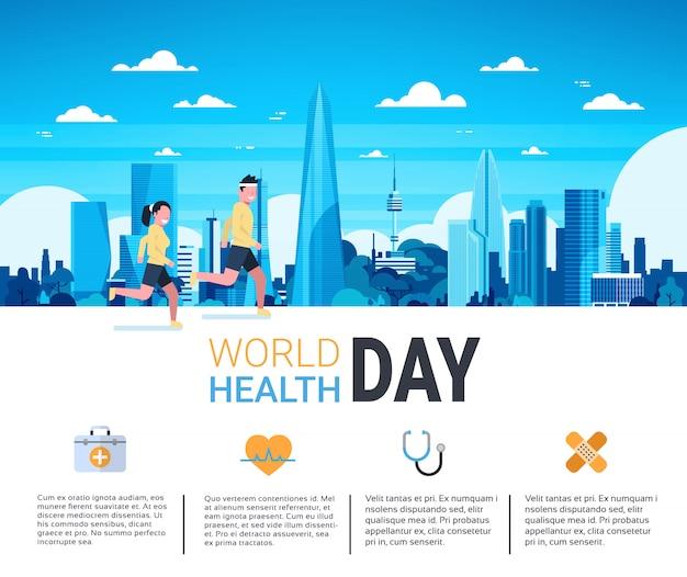 Infografía del día mundial de la salud Vector Premium