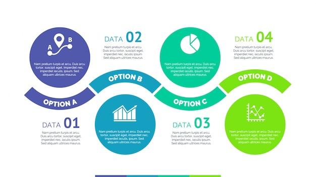 Infografía con diseño de círculos y opciones vector gratuito