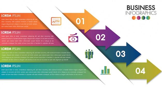 Infografía diseño minimalista plantilla moderna. Vector Premium