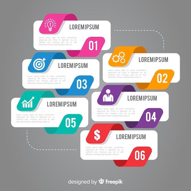 Infografía en diseño plano vector gratuito