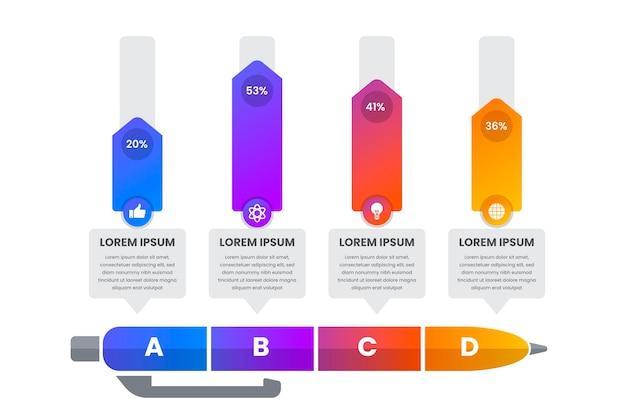Infografía de educación gradiente vector gratuito