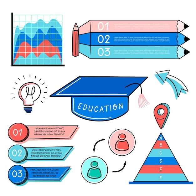 Infografía de educación vector gratuito