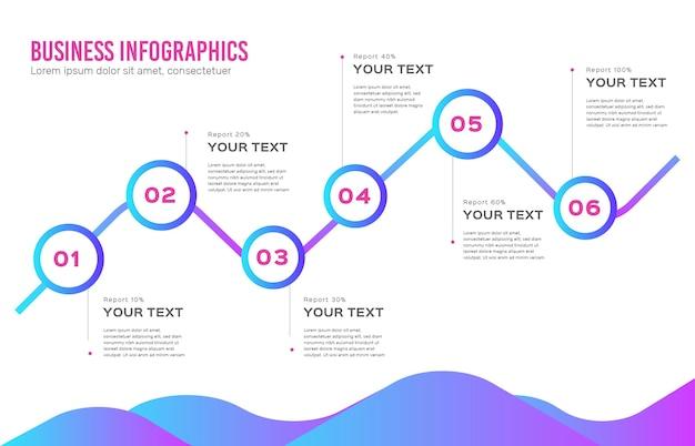 Infografía empresarial degradada vector gratuito