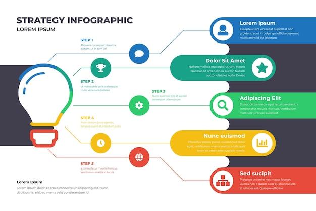 Infografía de estrategia vector gratuito