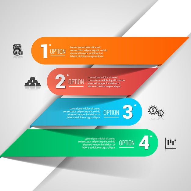 Infografía financiera de dinero vector gratuito
