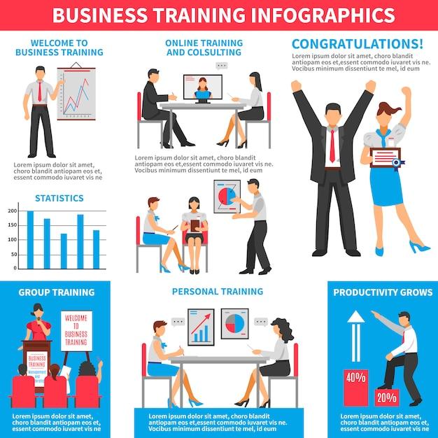 Infografía de formación empresarial vector gratuito